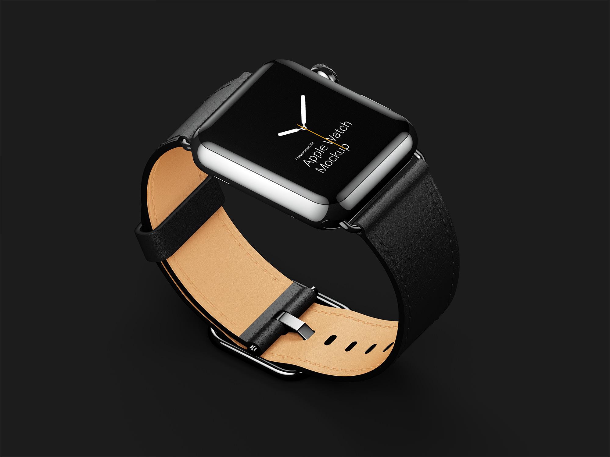 Leather Band Apple Watch Mockup