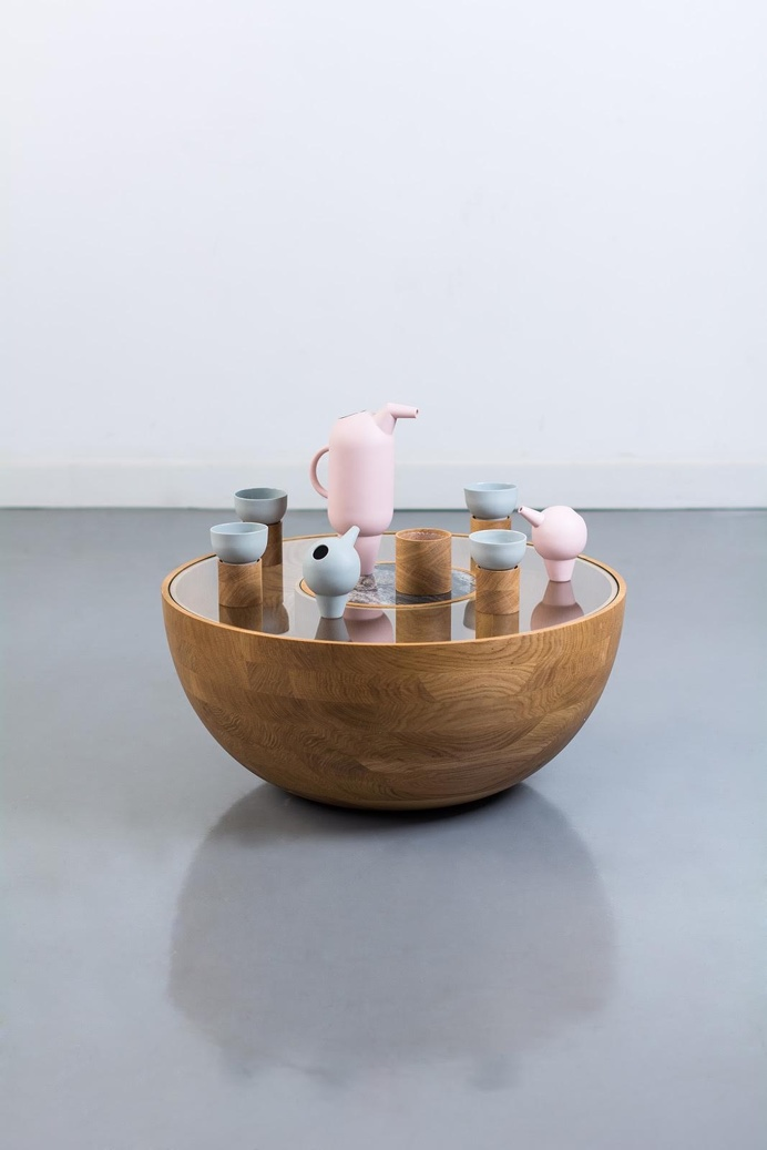 #furniture #design #vessels #wood #teatime